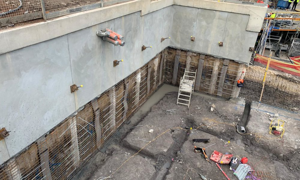 Capping Beam and excavation